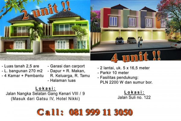 Dijual Ruko di Denpasar, Bali. Murah lokasi strategis – Jln suli – KJ1008B