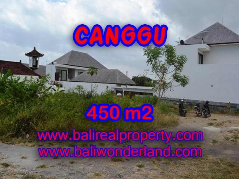 Tanah di Bali dijual 450 m2 View sawah di Batu Bolong