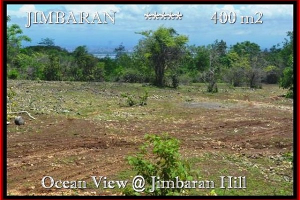 DIJUAL TANAH MURAH JIMBARAN BALI 400 m2  View laut Lingkungan villa