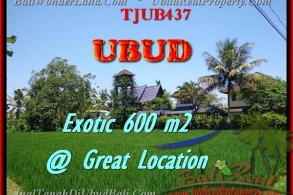TANAH DIJUAL di UBUD 600 m2  View sawah link villa