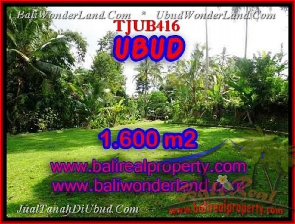 TANAH MURAH di UBUD BALI 1,600 m2  View sawah dan sungai
