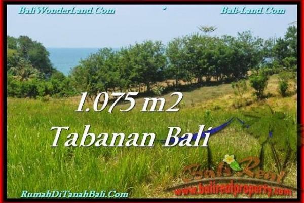 JUAL TANAH di TABANAN 1,075 m2  View Laut dan Gunung