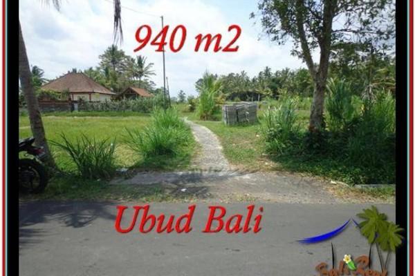 TANAH di UBUD JUAL MURAH 9.4 Are View Sawah, link Villa