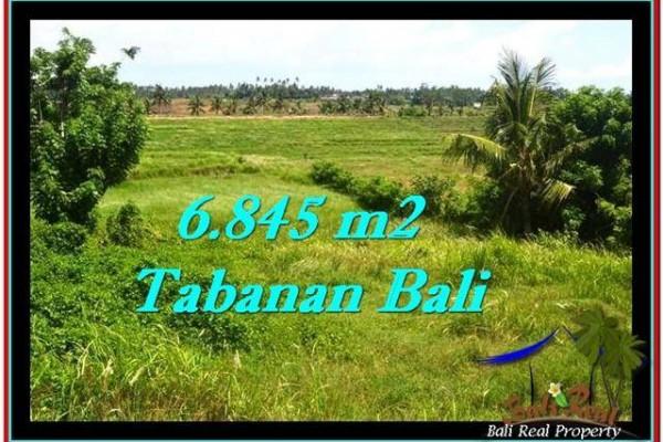 JUAL TANAH MURAH di TABANAN 68.45 Are View sawah dan laut