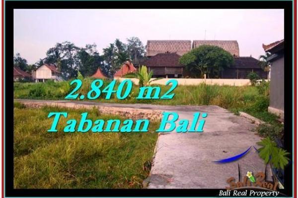 JUAL TANAH MURAH di TABANAN BALI 2,840 m2 di Tabanan Tanah Lot