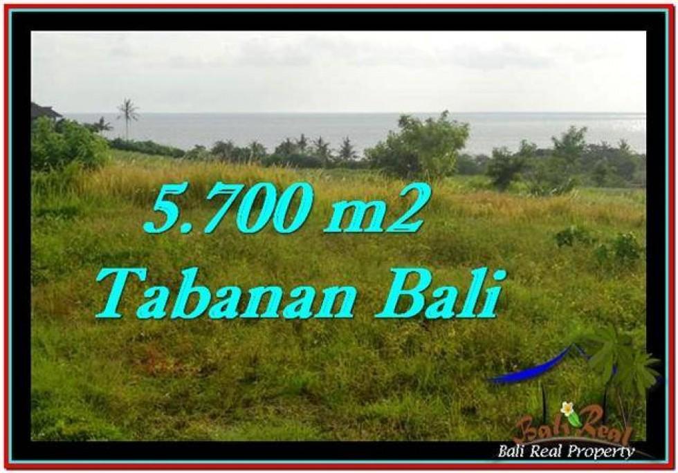 JUAL TANAH di TABANAN 5,700 m2  View sawah, laut dan gunung