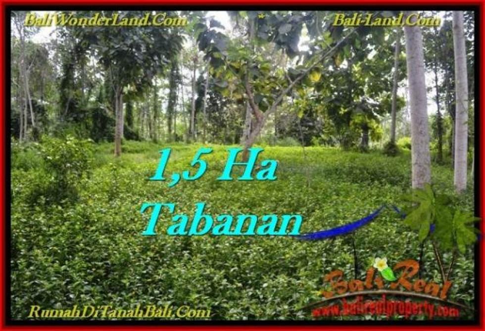 JUAL TANAH MURAH di TABANAN 155.5 Are View kebun dan sungai