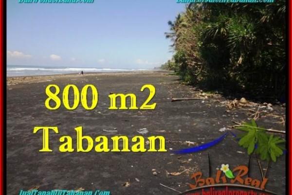 TANAH JUAL MURAH  TABANAN 800 m2  Tepi Pantai ( Beachfront ) View Sawah