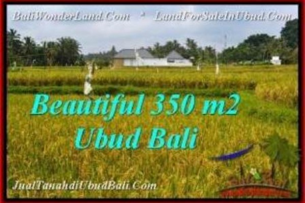 TANAH JUAL MURAH  UBUD 350 m2  View Sawah, link villa