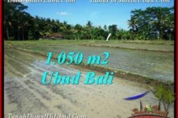 JUAL TANAH di UBUD 10.5 Are View Sawah, link. villa