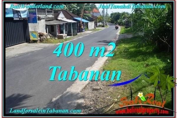 TANAH di TABANAN BALI DIJUAL MURAH 400 m2  View kebun