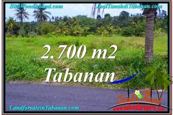 TANAH di TABANAN BALI DIJUAL MURAH 2,700 m2  View gunung dan sawah