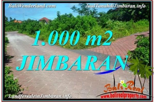 TANAH JUAL MURAH  JIMBARAN BALI 1,000 m2  Lingkungan Villa