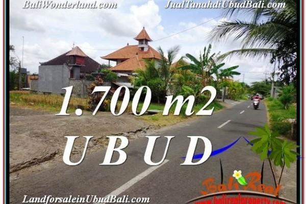 JUAL TANAH MURAH di UBUD BALI 1,700 m2  View Pangkung Link Villa