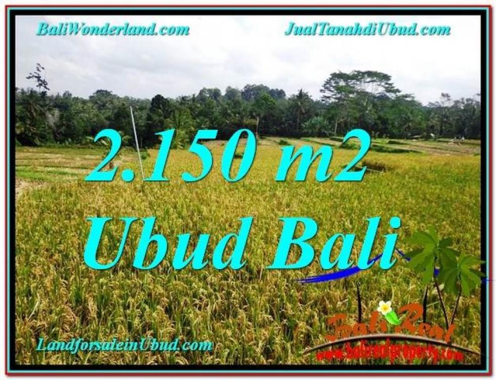 TANAH MURAH di UBUD DIJUAL 2,150 m2 di Ubud Tegalalang