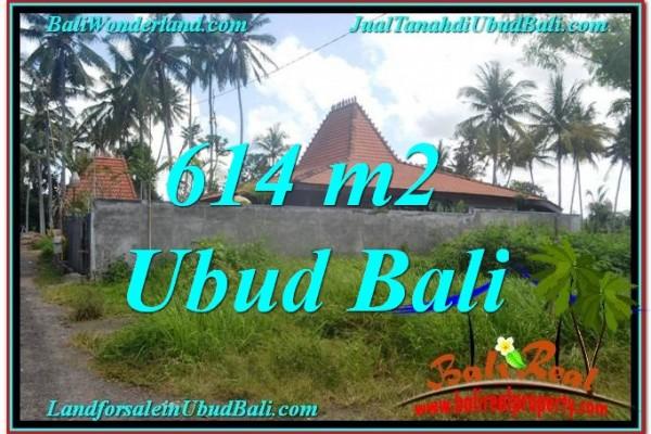 JUAL TANAH di UBUD BALI 614 m2  View kebun lingkungan Villa