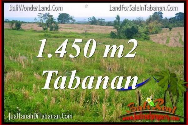 JUAL MURAH TANAH di TABANAN BALI 14.5 Are View Laut, Gunung dan sawah