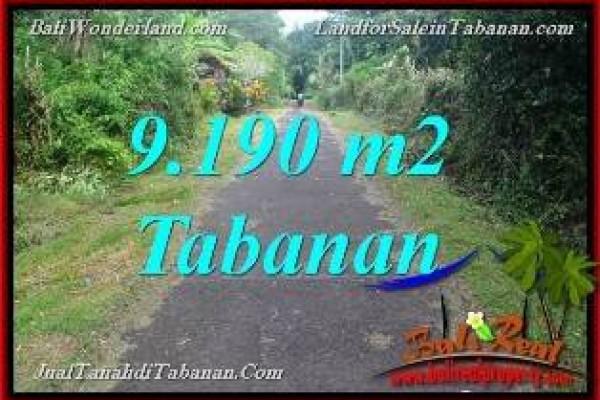 TANAH di TABANAN BALI DIJUAL MURAH 9,190 m2 di Tabanan Selemadeg Timur