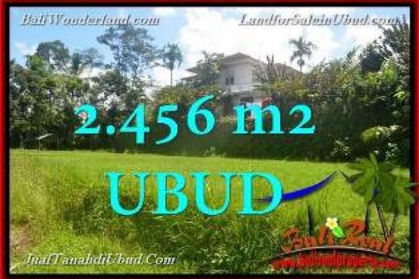 TANAH JUAL MURAH di UBUD BALI 2,456 m2  View tebing link Villa