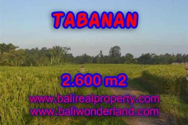 DIJUAL MURAH TANAH DI TABANAN TJTB129 – PELUANG INVESTASI PROPERTY DI BALI