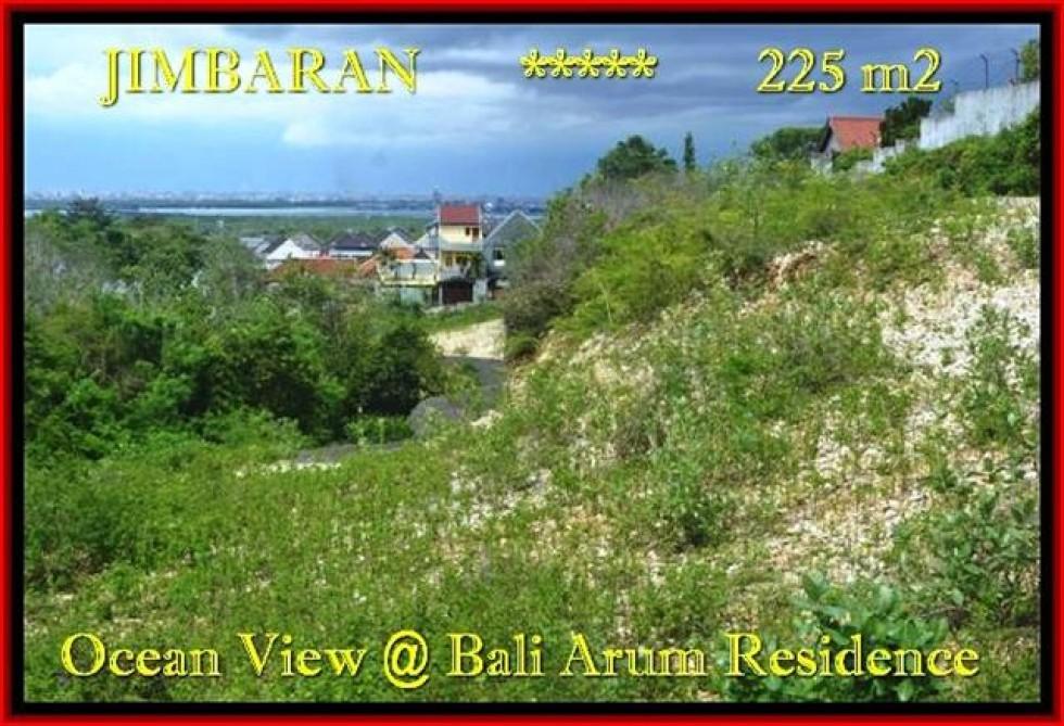 TANAH di JIMBARAN JUAL 225 m2  View laut toll Lingkungan villa