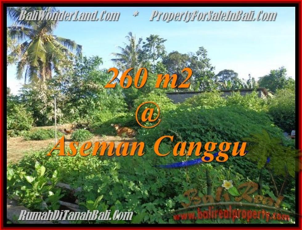 DIJUAL MURAH TANAH di CANGGU BALI 260 m2 di Canggu Brawa