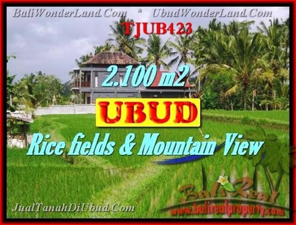 TANAH JUAL MURAH  UBUD BALI 2,100 m2  view  sawah gunung dan tebing