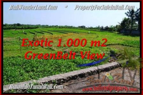 JUAL TANAH MURAH di CANGGU BALI 1,000 m2 di Canggu Pererenan