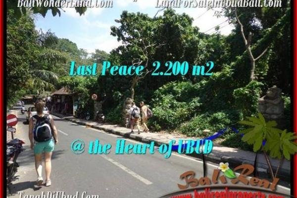 TANAH di UBUD DIJUAL 2,200 m2 di Sentral Ubud