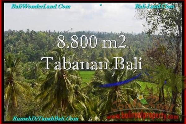 TANAH MURAH JUAL di TABANAN BALI 8,800 m2  View laut, Sawah dan Gunung