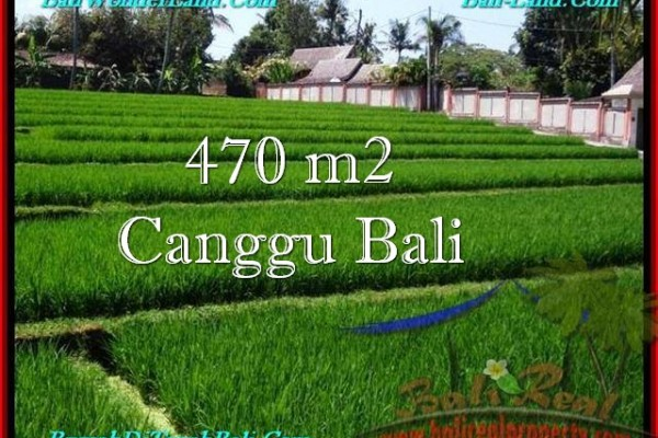 TANAH MURAH di CANGGU JUAL 4.7 Are View sawah, sungai, lingkungan villa