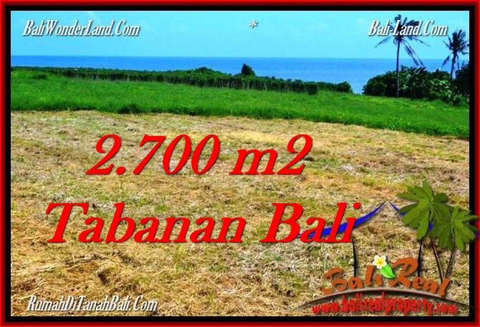 JUAL TANAH MURAH di TABANAN BALI 2,700 m2 di Tabanan Selemadeg
