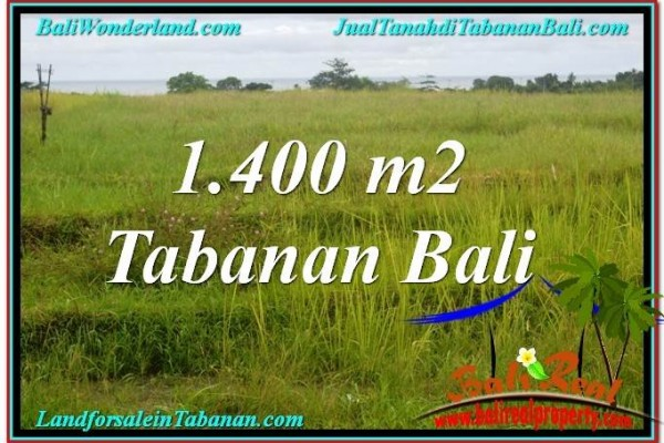 JUAL TANAH MURAH di TABANAN BALI 1,400 m2  View Laut, Gunung dan sawah