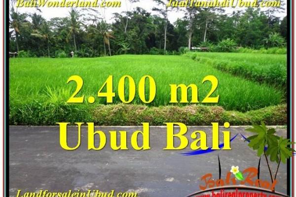TANAH MURAH JUAL di UBUD BALI 2,800 m2  View sawah