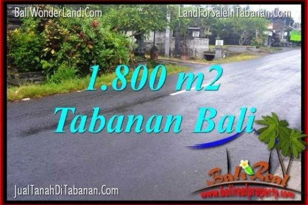 DIJUAL TANAH di TABANAN 1,800 m2 di Tabanan Kota