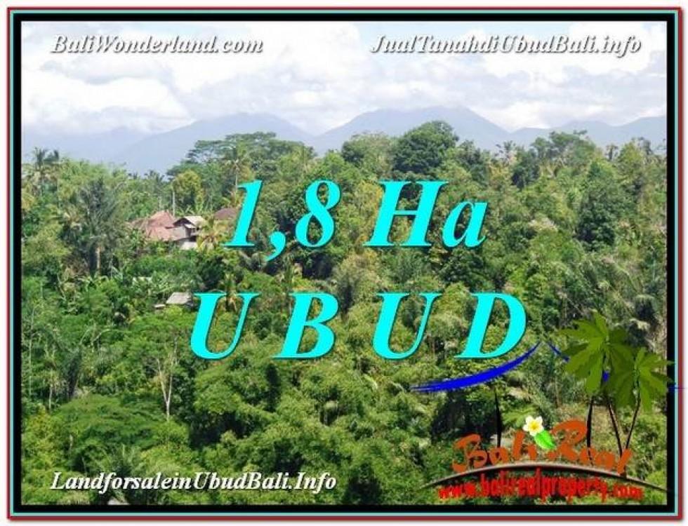 JUAL TANAH di UBUD BALI 18,000 m2  View pangkung link Villa