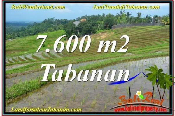 JUAL TANAH di TABANAN BALI 7,600 m2  View Laut, Gunung dan sawah