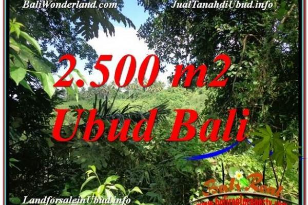 DIJUAL TANAH di UBUD 2,500 m2 di Ubud Pejeng