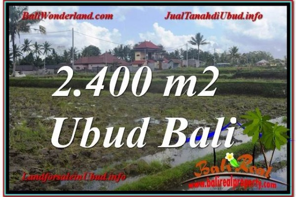 JUAL MURAH TANAH di UBUD 2,400 m2 di Ubud Pejeng