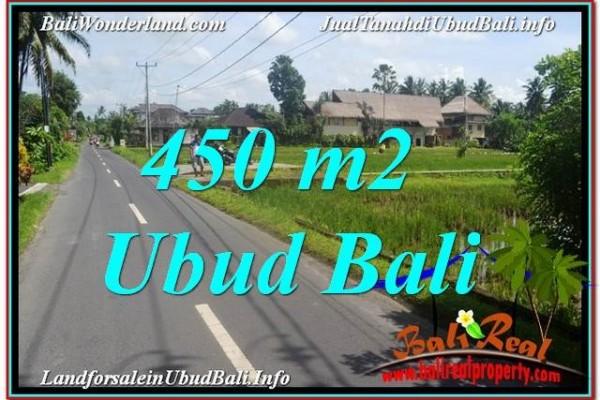 TANAH di UBUD DIJUAL MURAH 450 m2 di Sentral / Ubud Center