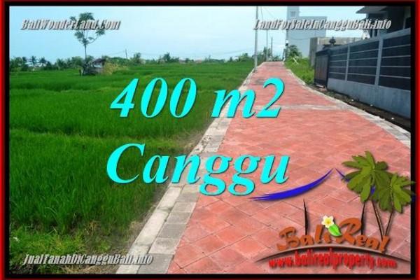 TANAH DIJUAL di CANGGU BALI 400 m2 di Canggu Pererenan