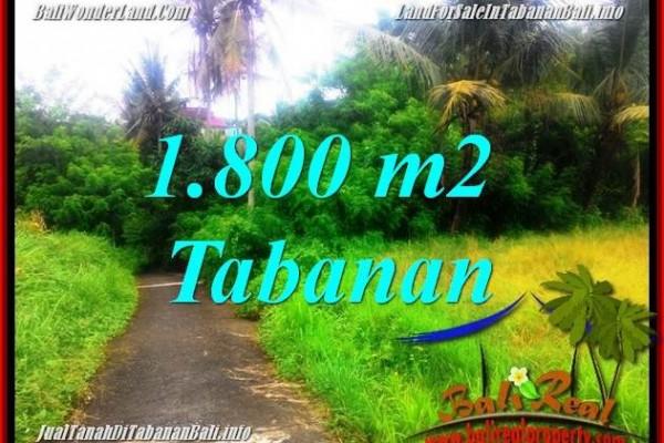 JUAL TANAH di TABANAN BALI 1,850 m2  View sawah