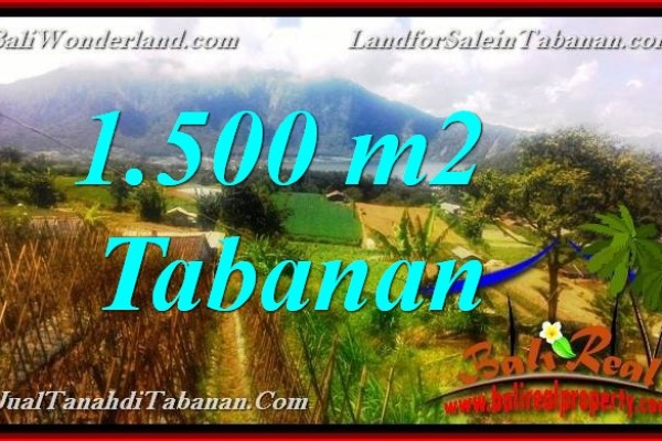 TANAH MURAH DIJUAL di TABANAN 1,500 m2 di Tabanan Bedugul