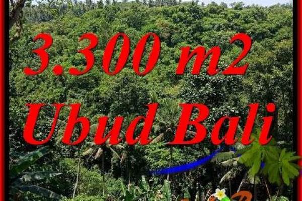 JUAL Tanah Murah di Ubud Bali 3,300 m2  View sungai, lingkungan Villa, Restoran dan Hotel
