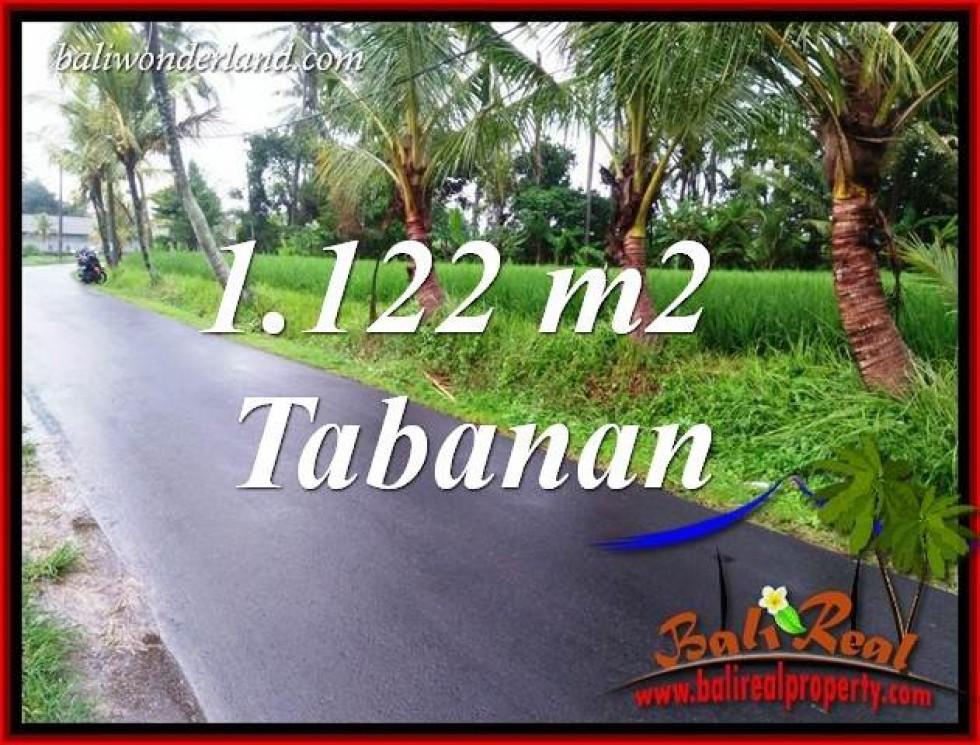 Tanah Murah dijual di Tabanan 1,122 m2  View Sawah, Gunung dan Sungai Kecil