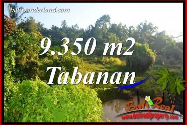 Tanah Murah  di Tabanan Bali Dijual 9,350 m2  View Kebun dan Sawah