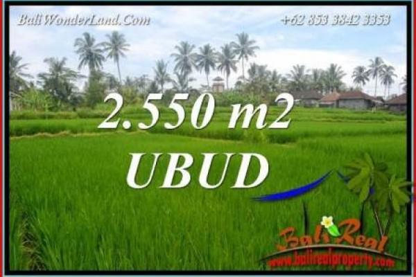 Dijual Tanah di Ubud Bali 2,550 m2 di Ubud Pejeng
