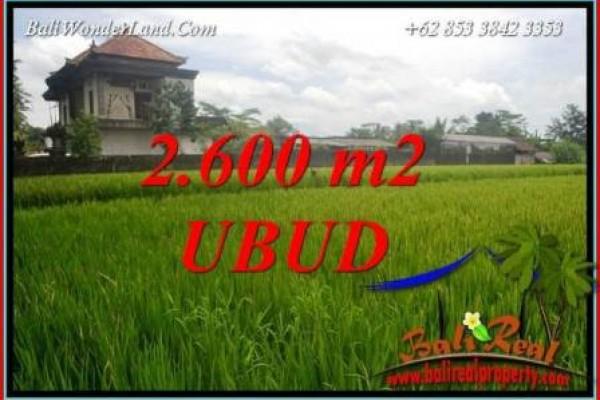 Tanah Murah Dijual di Ubud Bali 2,600 m2 di Ubud Pejeng