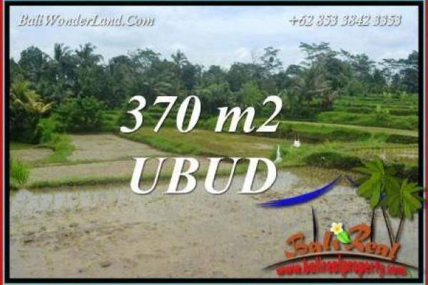 Tanah di Ubud Bali dijual Murah 370 m2  View sawah
