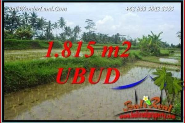 JUAL Tanah di Ubud Bali 1,815 m2  View sawah
